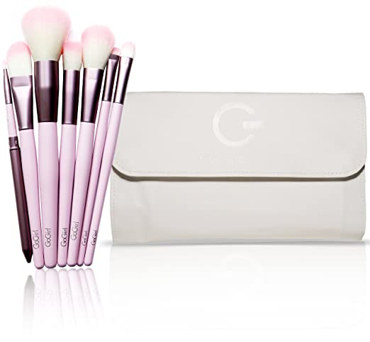 GG Beauty Premium Synthetic Makeup Brush Set 20 Piece - Cosmetics Brush Kit with White Pouch