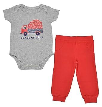 c39b4683e Amazon.com  Unique Baby Unisex Loads of Love Valentine s Day Layette ...