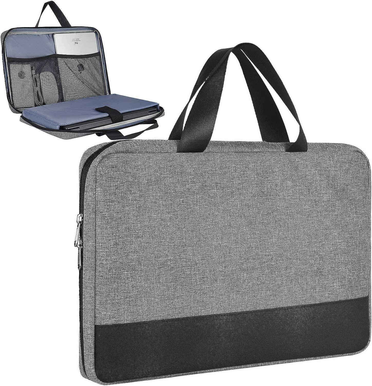 13.3-15 Inch Laptop Case for Acer Chromebook 314/ Spin 3/ Swift 3, Asus Chromebook/VivoBook Flip 14, Dell Inspiron/Latitude 14, Lenovo Flex/Yoga C940, HP Chromebook Sleeve Bag(Space Grey)