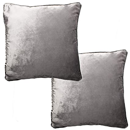Mink Brown /& Gold Crushed Velvet Cushion Set