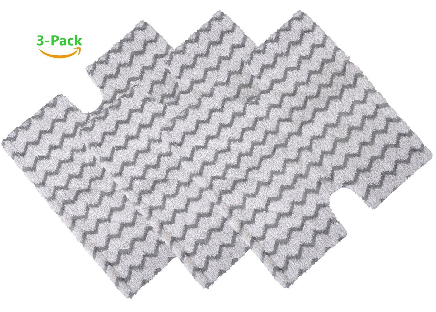 3 Pack Replacement Steam Mop Pads for Shark Lift-Away Pro Steam Pocket Mop and Genius Steam Pocket Mop Series, Model S3973 S3973D S3973WM S5001 S5002Q S5003D S5003A S6001W S6001WM S6002 S6003W (Three)