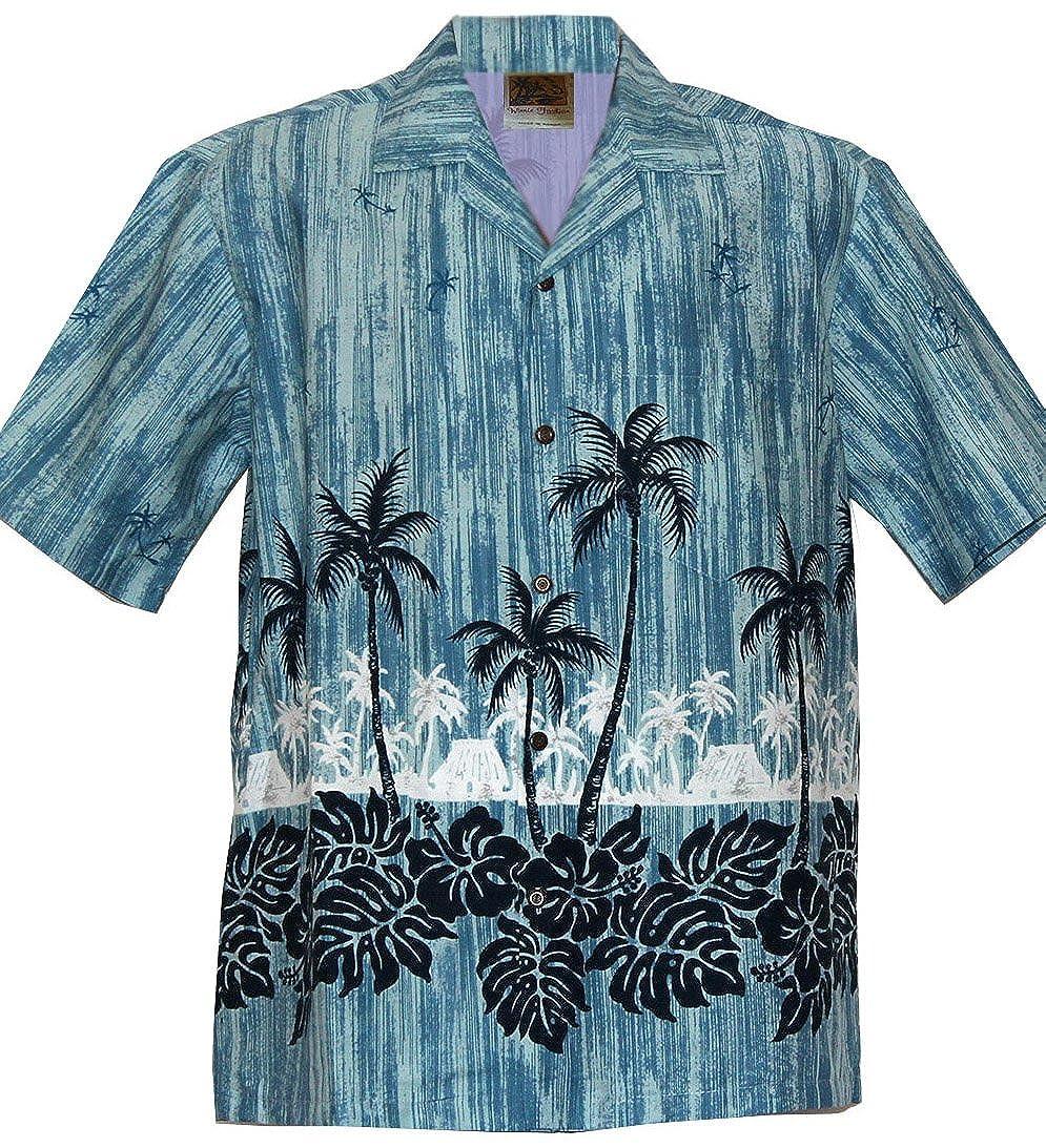 WinnieFashion Sleek Exclusive Straight CocoNut Aloha Shirtin Slate (XXL) 818-aloha
