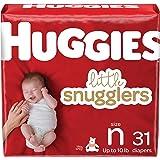 Newborn Diapers - Huggies Little Snugglers Disposable Baby Diapers, 31ct, Jumbo pack
