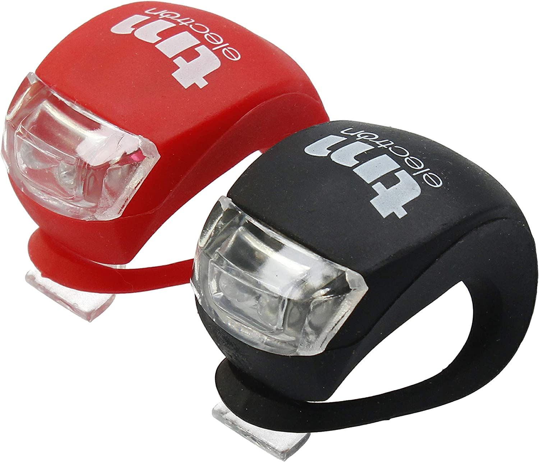 TM Electron TMTOR003 Set de luces LED frontal y trasera de silicona impermeable para bicicleta con 3 modos