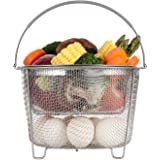 Aozita Steamer Basket for Instant Pot Accessories 6 qt or 8 quart - 2 Tier Stackable 18/8 Stainless Steel Mesh Strainer…