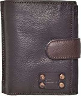 3c5ef9c2541c2 Mens Vintage High Quality Crinkle Washed Leather Organiser Wallet with Coin  Section and 3 Note Sections