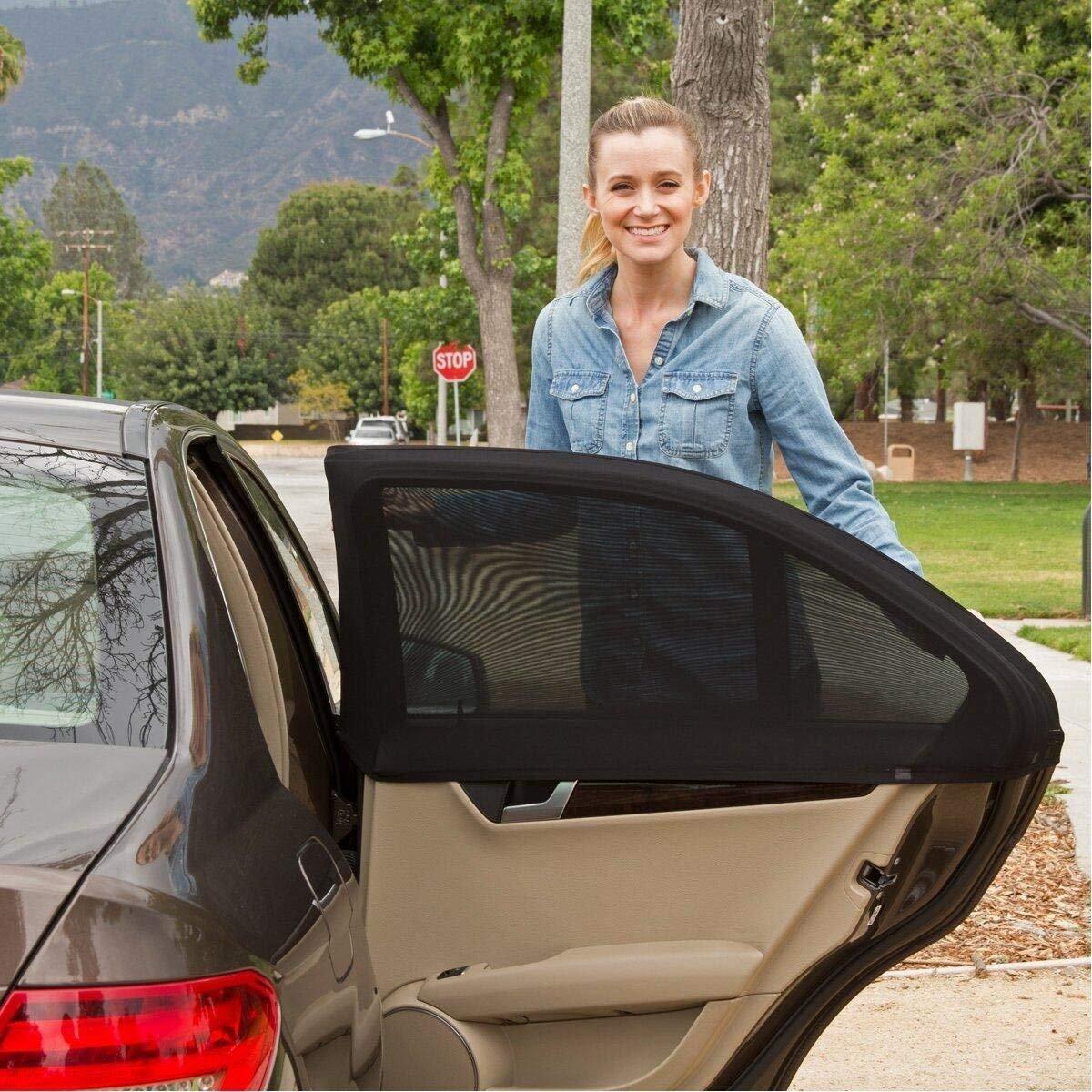 Tinabless Auto-Sonnenschutz fü r Kinder (2er-Pack), Universalpassform, mit UV-Schutz | schü tzt Haustiere und Kinder von der Sonne, passend fü r 99% aller Autos und die meisten SUVs Tinabless Direct