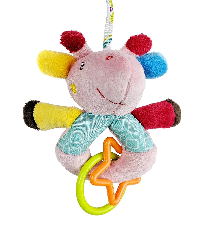TOYMYTOY Infant Baby Toys Multi Functional Kids Animal Plush Elephant Rattle For Pushchair Pram Car Seat