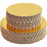 [30pcs]6' Gold Cakeboard Round,Disposable Cake Circle Base Boards Cake Plate Round Coated Circle Cakeboard Base 6inch…