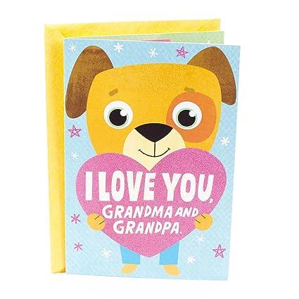 Amazon hallmark grandparents day greeting card from grandchild hallmark grandparents day greeting card from grandchild pop up hug to grandma and grandpa m4hsunfo