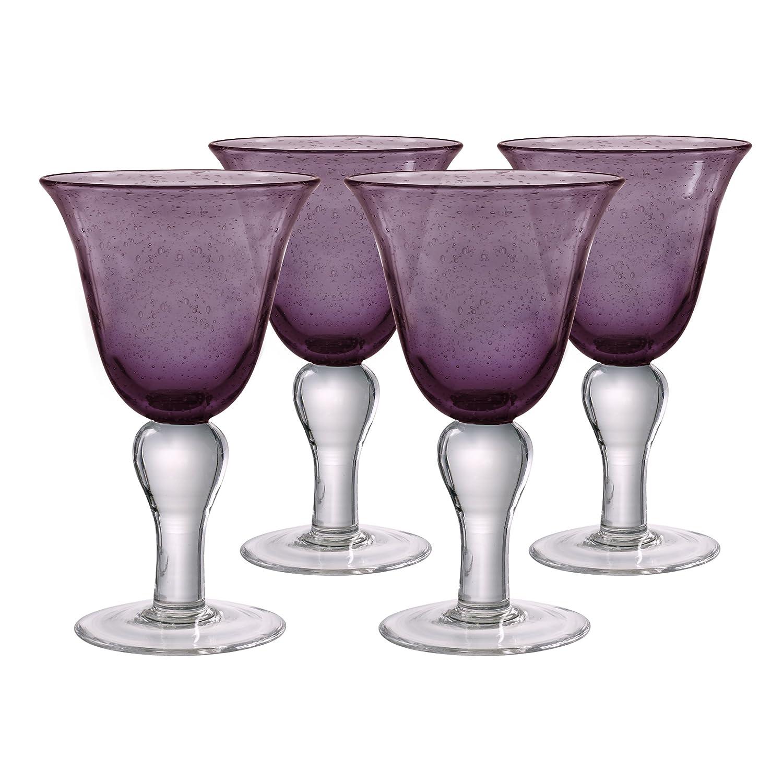Artland Iris Glass, Set of 4, 14 oz, Amber 50408B