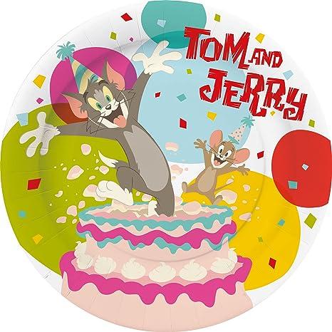 YUESEN Tom und Jerry Cake Topper Mini Figurine Mini Giocattoli per Bambini e Baby Shower Forniture per la Decorazione della Torta della Festa di Compleanno