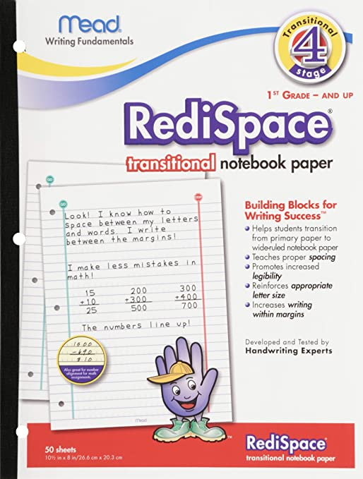 Amazon.com : Mead RediSpace Transitional NoteBook Paper, Stage 4 ...
