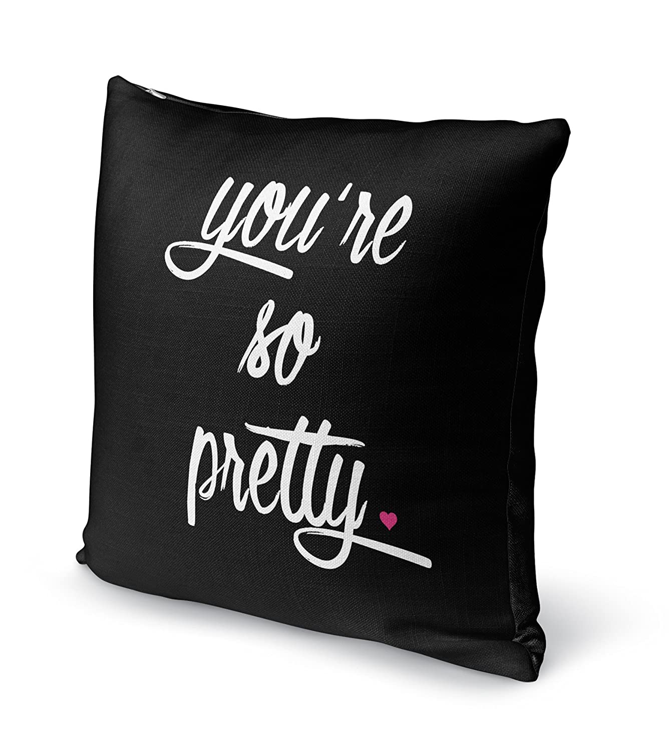 KAVKA Designs Youre So Pretty Accent Pillow, - TRADITIONS Collection Pink SCRAVC3006DI16 Size: 16X16X6 -