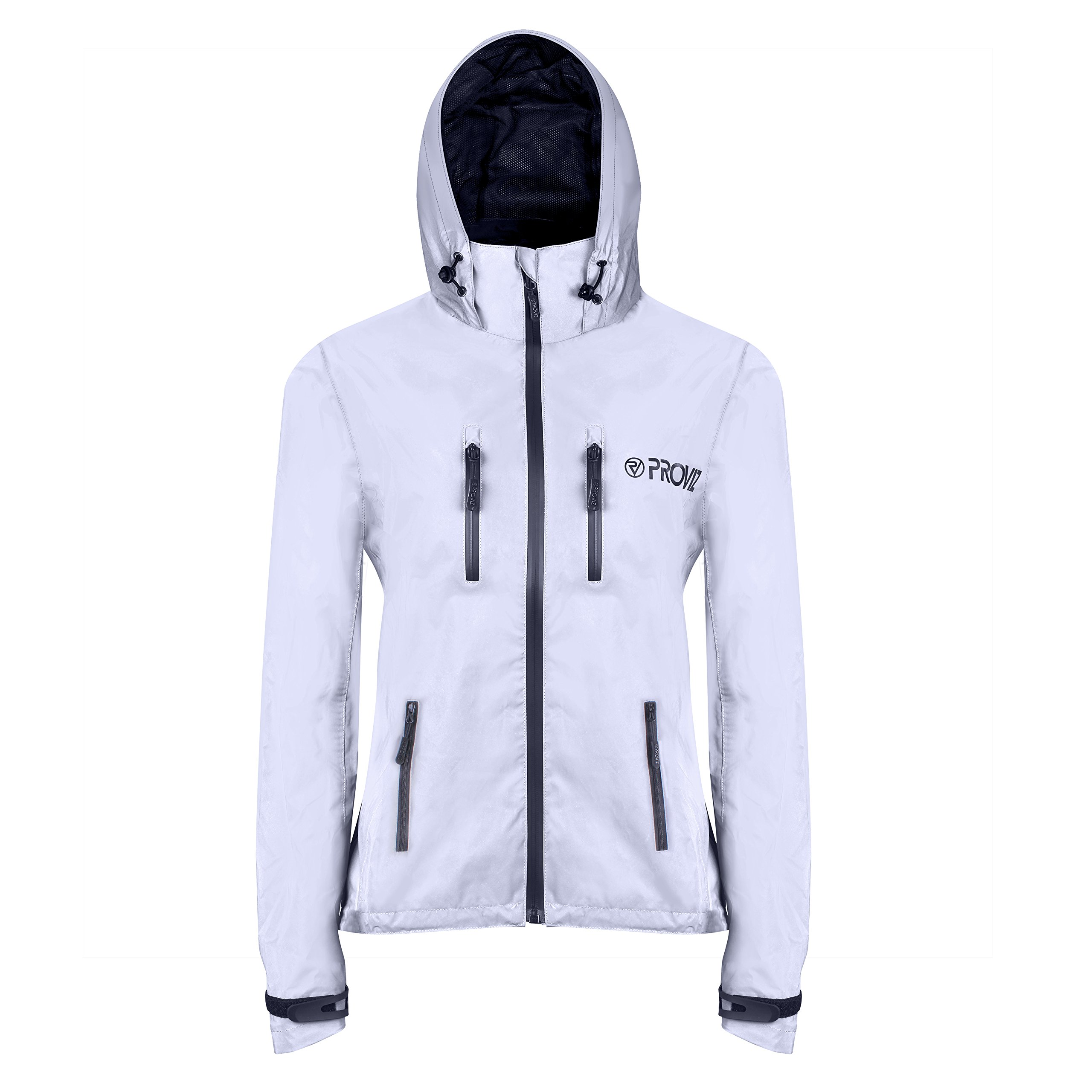 Proviz Women's REFLECT360 Outdoor Jacket, 12, Silver