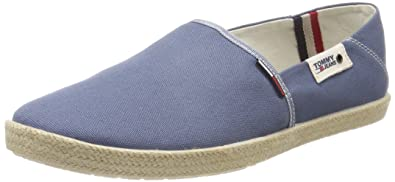 Mens Summer Slip on Shoe Loafers, Grey Tommy Jeans