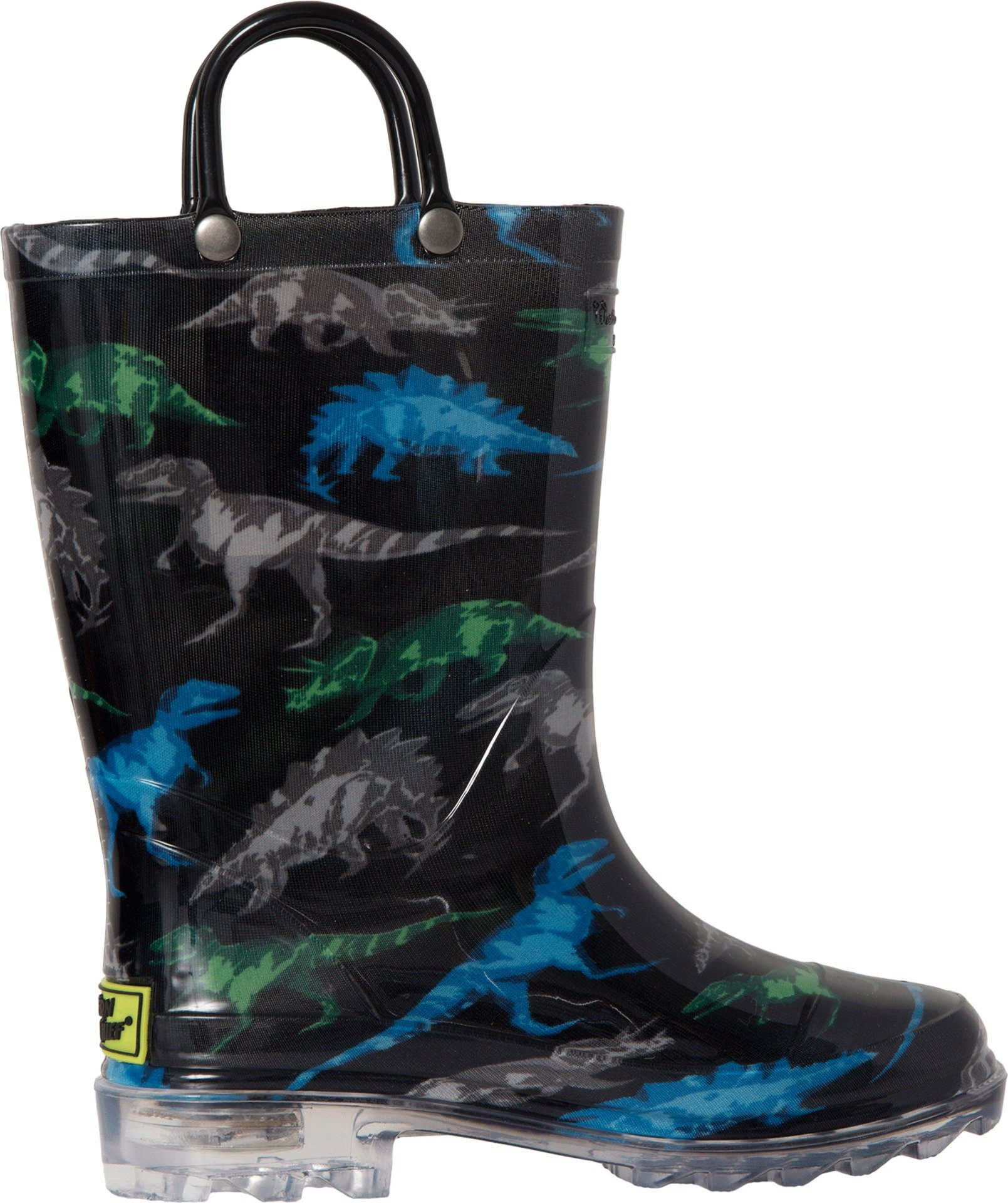 Western Chief Boys' Light-up Waterproof Rain Boot, Dinosaur Friends, 1 M US Little Kid by Western Chief (Image #3)