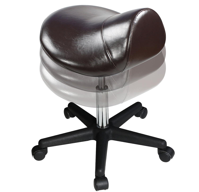 amazon com master massage ergonomic swivel saddle rolling hydraulic