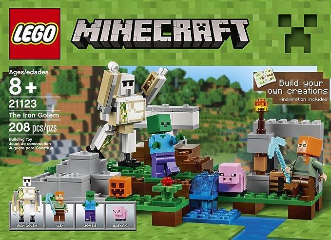 Minecraft LEGO 208 PCS The Iron Golem Brick Box Building Toys by LEGO: Amazon.es: Juguetes y juegos