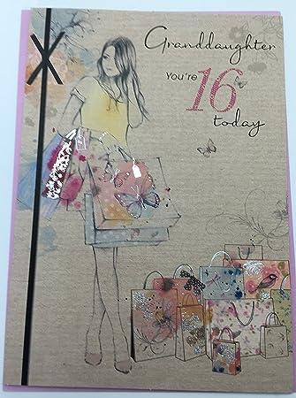 Granddaughter 16th Birthday Card