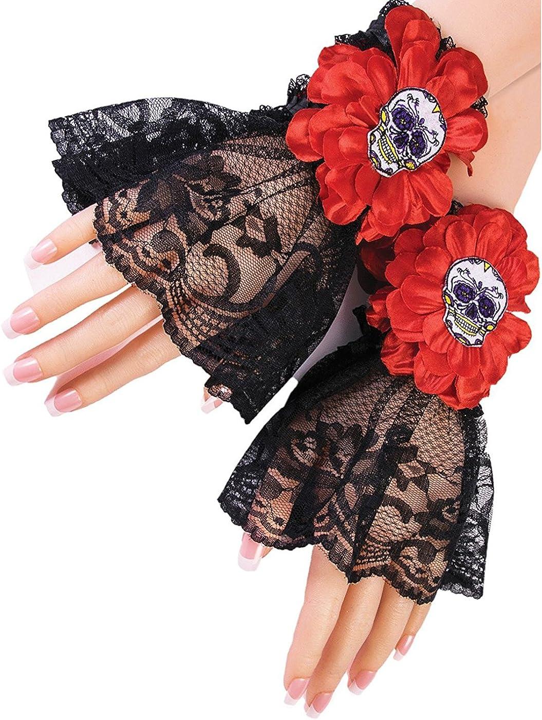 Day of The Dead Wrist Cuffs Costume Accessory