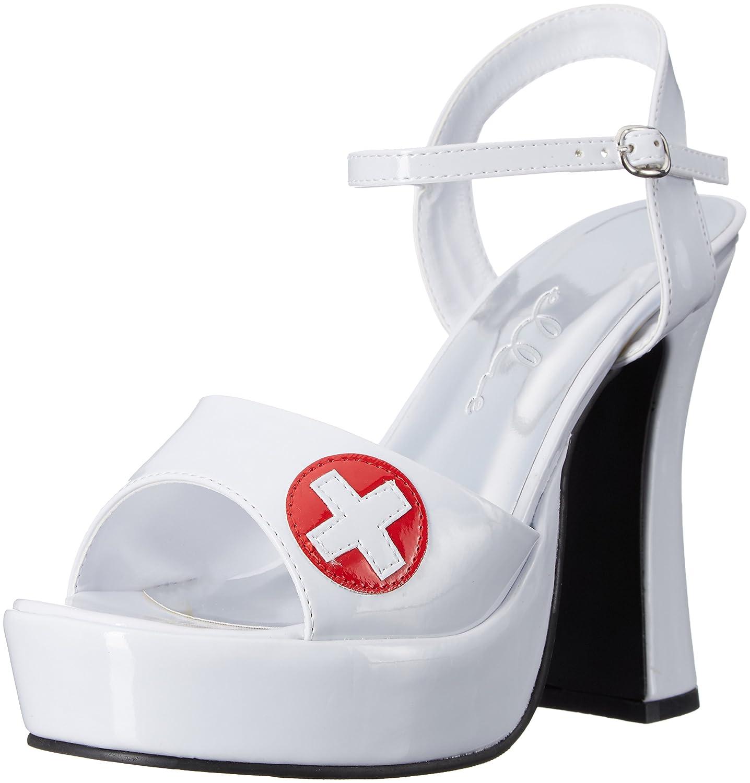 Ellie Shoes Women's 557-Betty Heeled Sandal B005MG10ZG Size 9|White