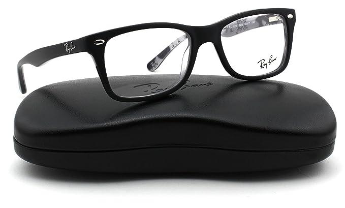 49e804fc5a053c Ray-Ban RX5228 Square Unisex Eyeglasses (Black Multi Frame 5405, 50 ...