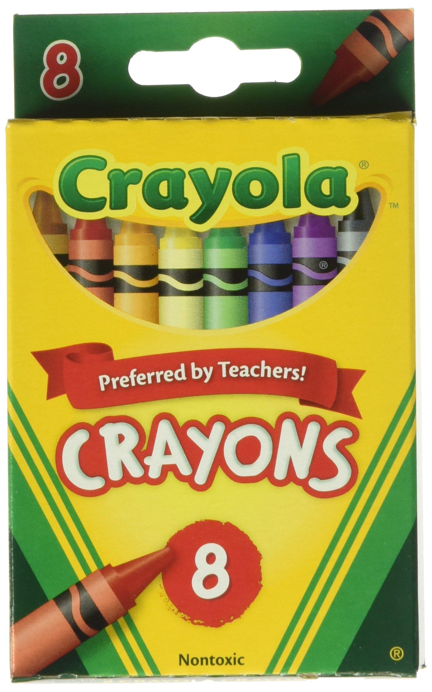 Crayola Bulk Buy Crayons 8/Pkg 52-3008 (12-Pack) by Crayola