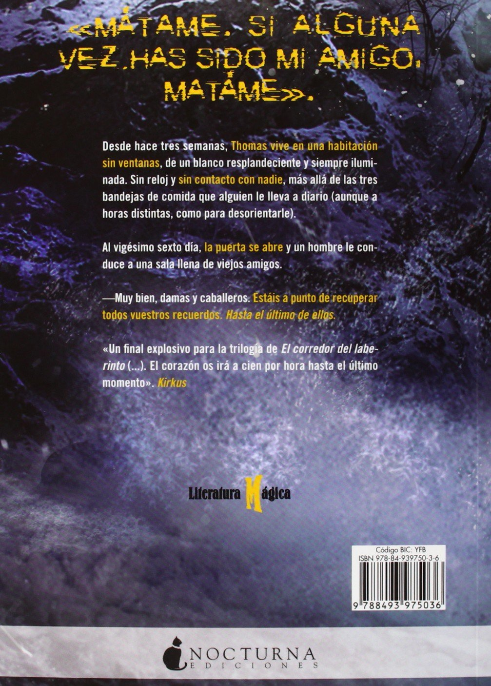La cura mortal (Literatura Mágica): Amazon.es: James Dashner, Noemí Risco  Mateo: Libros