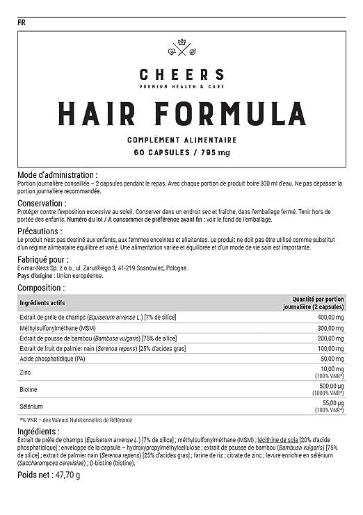 Cheers fórmula de pelo para hombre & mujer: Amazon.es: Salud y cuidado personal