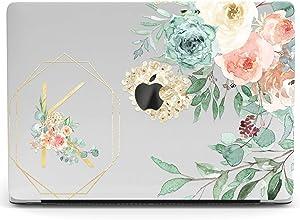 Wonder Wild Mac Retina Cover Case Compatible for MacBook Pro 15 inch 12 11 Clear Hard Air 13 Apple 2019 Protective Laptop 2018 2017 2020 Plastic Print Custom Flower Bush Inscription Gold Aquarelle