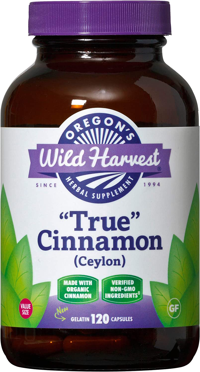 Oregon s Wild Harvest True Cinnamon Ceylon Organic Non-GMO Herbal Supplements Packaging may vary