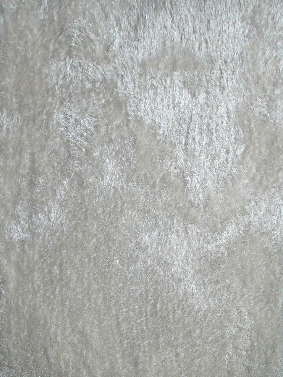 Amazon.com: RUGADDICTION Auténtico y Lujoso Color Blanco Sólido Shag Gruesa Alfombra Pila, Tamaño 60