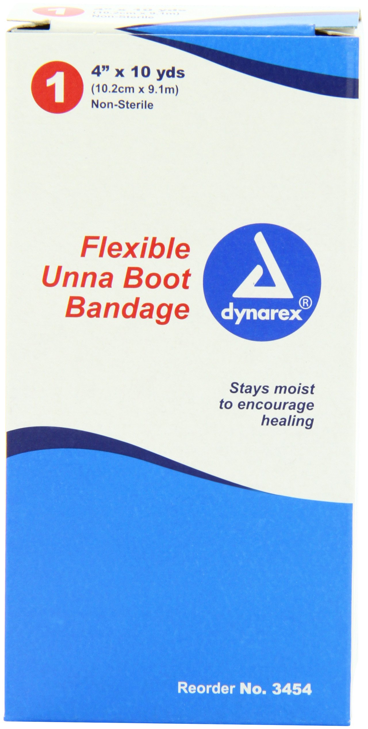 Dynarex Unna Boot Bandage, 4 Inches X 10 Yards, (Pack of 12)