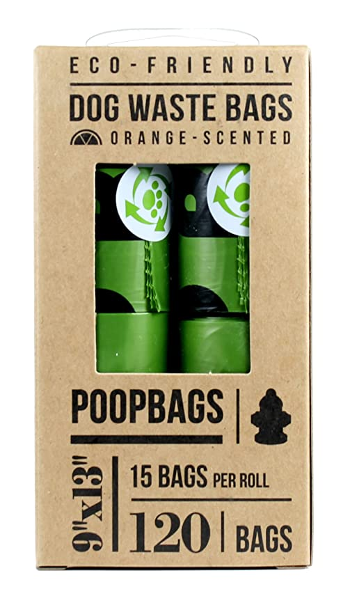 Amazon.com : The Original PoopBags - Eco-Eco on a Roll Pet Waste Bags Orange Scented - 120 Bags (8 Rolls of 15 Poop Bags) : Pet Supplies