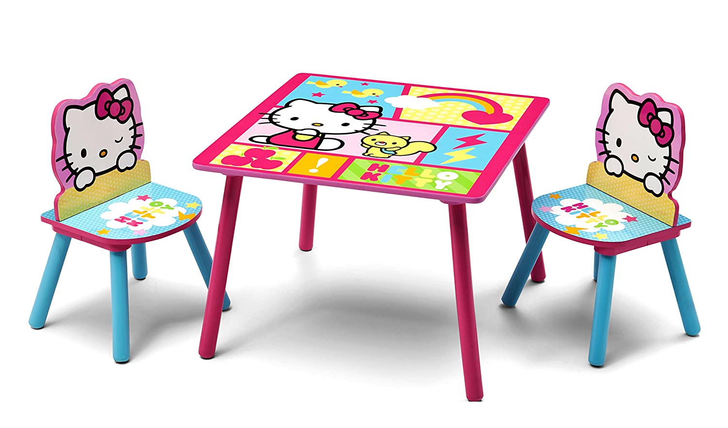 sc 1 st  Amazon.com & Amazon.com: Delta Children Table u0026 Chair Set Hello Kitty: Baby
