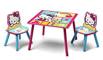 Delta Children Table \u0026 Chair Set Hello Kitty  sc 1 st  Amazon.com : baby table set - pezcame.com