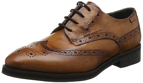 Royal W5m_i17, Zapatos de Cordones Derby para Mujer, Marrón (Cuero), 40 EU Pikolinos