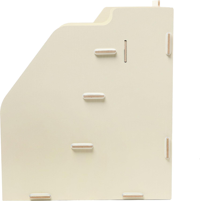 Planche en bois mygift Organiseur de bureau de W//2/Fentes pour document//magazine support d/étag/ère Cubbies /& Bureau