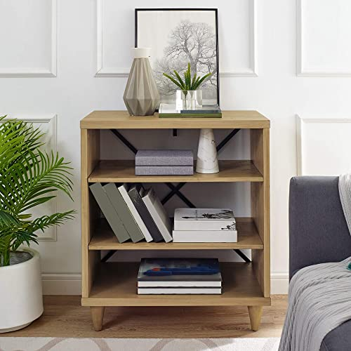 Classic Brands Rustic Farm House Three Shelf Solid Wood Bookcase/End Table - the best modern bookcase for the money