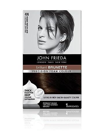john frieda box hair color john frieda precision foam colour dark natural brown 4n amazoncom