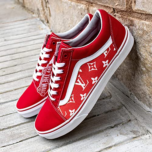 def235e701b0f Amazon.com: Vans Old Skool x LV Custom Handmade Uni-Sex Shoes By ...
