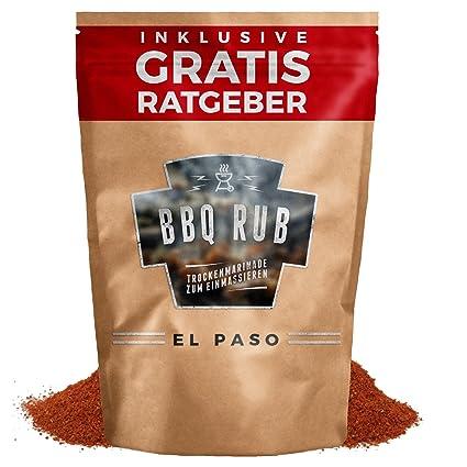 BBQ Rub El Paso 80g | Marinada en seco para carne de cerdo y costillas de cerdo | Mezcla de especias, condimento para parrilla, marinada a la ...