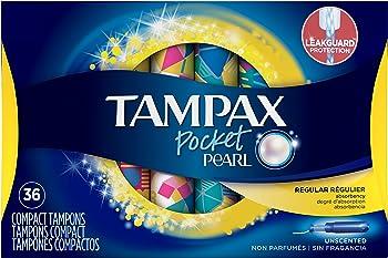 36-Count Tampax Pocket Pearl Plastic Tampons