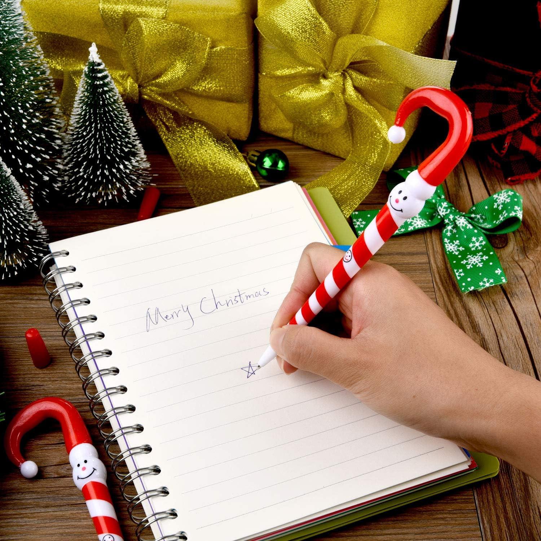 30 St/ücke S/ü/ßigkeiten Stock Geformt Stifte Weihnachten Schneemann Stifte Kugelschreiber f/ür Weihnachten Geschenke Lieferung