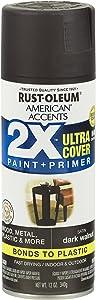 Rust-Oleum 327941 American Accents Ultra Cover 2X Satin, 12 Oz, Gloss Dark Walnut