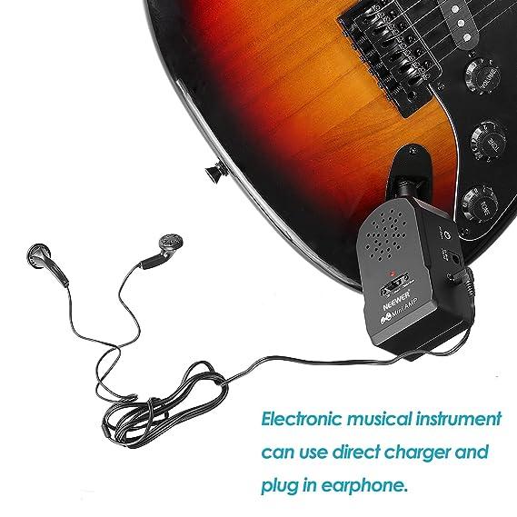 Neewer Mini amplificador de guitarra Ofrece 2 diferentes sonidos con los auriculares y la batería de 9V: Amazon.es: Electrónica