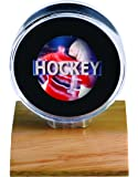 NHL Light Wood Puck Holder, Small, Clear