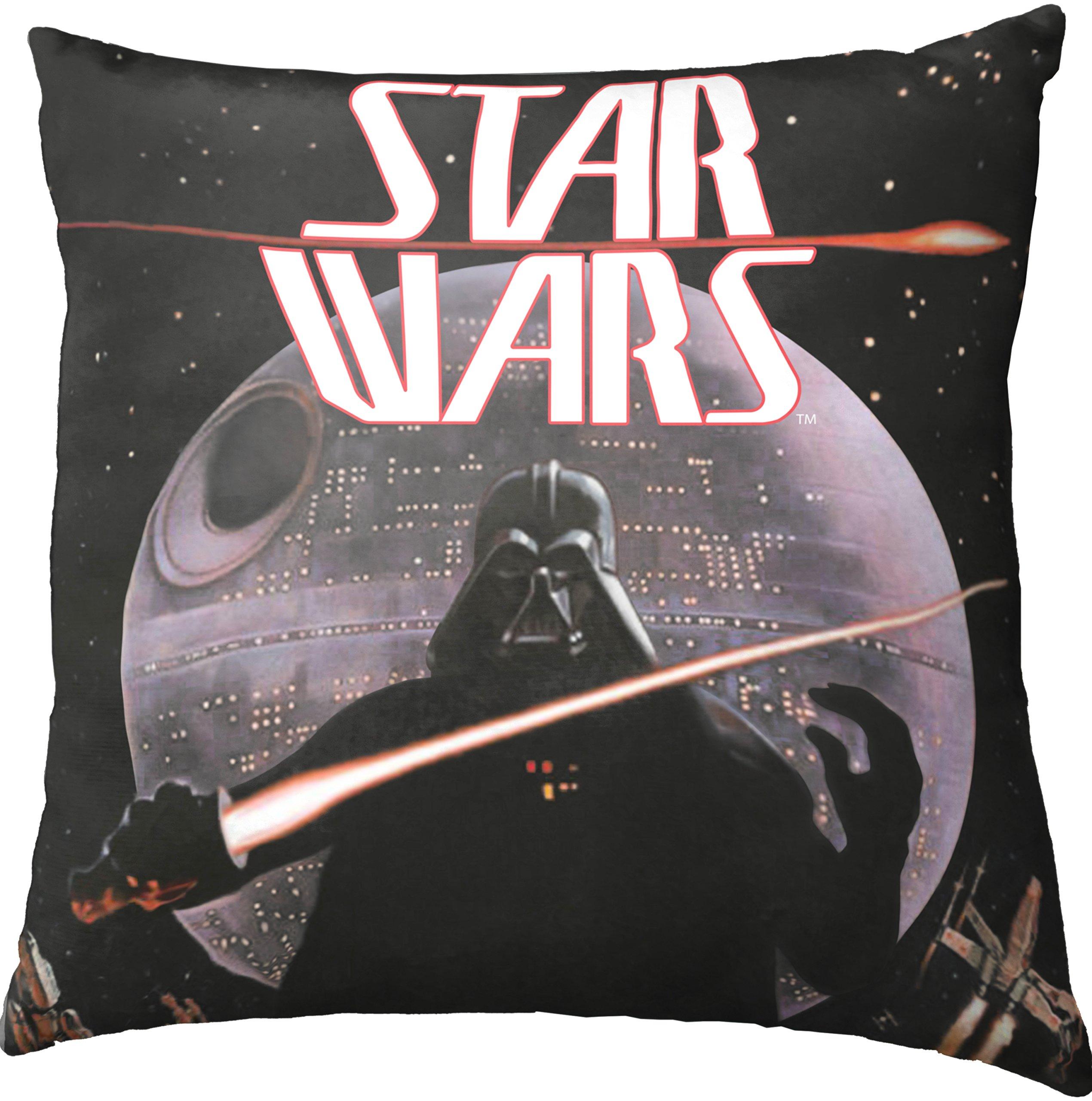 Star Wars Darth Vader Decorative Toss Throw Pillow, Black