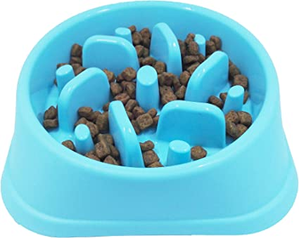 JASGOOD Dog Feeder Slow Eating Pet Bowl